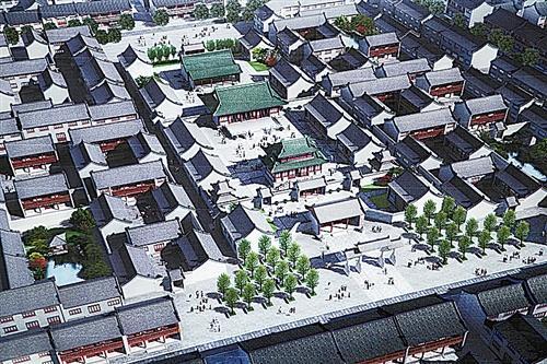 商丘古城复建城隍庙 预计今年7月竣工